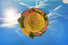 oud landbouwbedrijf 360 Stock Afbeelding