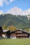 Oud landbouwbedrijf in Ramsau am Dachstein Royalty-vrije Stock Afbeelding