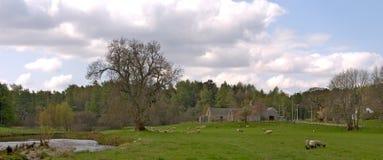 Oud landbouwbedrijf in Schotland Stock Foto's