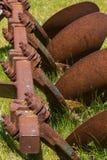 Oud landbouwbedrijfhulpmiddel Royalty-vrije Stock Foto