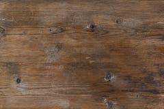 Oud landelijk houten stuk houten bruine kleuren, de gedetailleerde textuur van de plankfoto Stock Foto