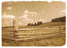 Oud landschap Royalty-vrije Stock Afbeelding
