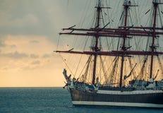 Oud lang schip royalty-vrije stock fotografie