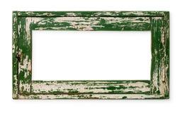 Oud leeg houten kader royalty-vrije stock fotografie