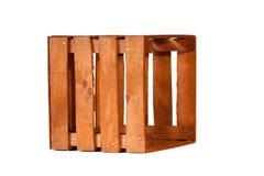 Oud leeg houten krat Stock Fotografie