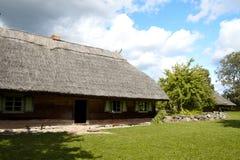 Oud Litouws huis stock foto