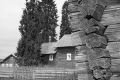 Oud logboekhuis Stock Afbeeldingen