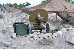 Oud Machinegeweer Royalty-vrije Stock Foto's