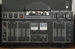 Oud magnetophonedetail Royalty-vrije Stock Afbeeldingen
