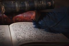 Oud manuscript Stock Fotografie