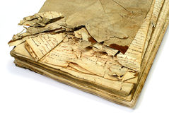 Oud manuscript Royalty-vrije Stock Fotografie