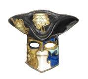 Oud Mardigras-geïsoleerd masker stock foto's
