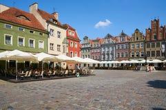 Oud marktvierkant poznan Stock Afbeeldingen