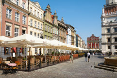 Oud marktvierkant poznan Stock Afbeelding