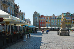 Oud marktvierkant poznan Royalty-vrije Stock Foto's