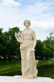 Oud marmeren standbeeld van Vrouw Royalty-vrije Stock Foto's