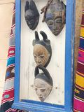 Oud masks made of Moroccan royalty free stock image