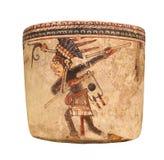 Oud Mayan geïsoleerd aardewerkschip Stock Afbeelding