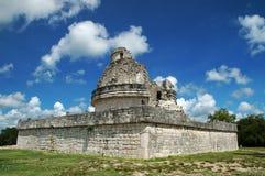 Oud Mayan Waarnemingscentrum Stock Afbeeldingen