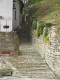 Oud Mediterraan steenhuis i Royalty-vrije Stock Foto's