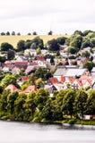 Oud Meer Europees Dorp Stock Foto's