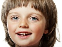 Oud meisje vier jaar Royalty-vrije Stock Foto's