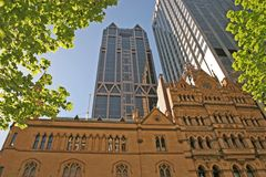 Oud Melbourne. Nieuw Melbourne Royalty-vrije Stock Foto's