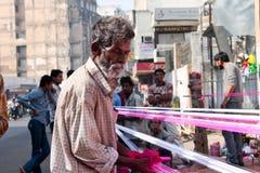 Oud mens-India Royalty-vrije Stock Foto