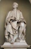 Oud mensenstandbeeld in de voorzijde van Florence Cathedral royalty-vrije stock foto's