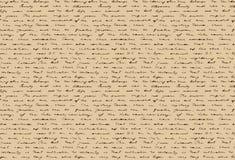 Oud met de hand geschreven document Oud document met het historische hand schrijven Naadloos patroon Vector illustratie Royalty-vrije Stock Fotografie