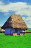 Oud met stro bedekt plattelandshuisje Stock Afbeelding