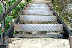 Oud Metaal Diamond Stair royalty-vrije stock foto