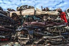 Oud Metaal op Scrapyard stock foto