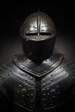 Oud metaalpantser van de middeleeuwse ridder Royalty-vrije Stock Foto's