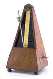 Oud metronoom royalty-vrije stock afbeeldingen