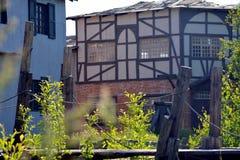 Oud middeleeuws dorp stock foto