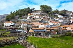 Oud middeleeuws dorp Drave in Portugal, Arouca, Aveiro royalty-vrije stock foto's