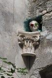Oud middeleeuws gezicht in Trogir, Unesco-stad, Kroatië Stock Foto's