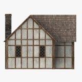 Oud middeleeuws huis Stock Foto's