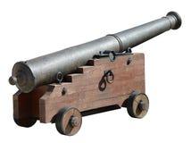 Oud middeleeuws kanon op wielen Stock Afbeeldingen