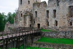 Oud middeleeuws kasteel stock afbeelding