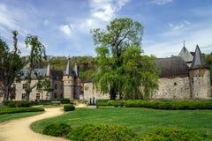 Oud middeleeuws kasteel royalty-vrije stock afbeelding