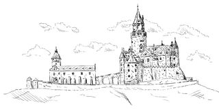 Oud middeleeuws kasteel Stock Foto