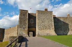 Oud middeleeuws kasteel in Dover, Engeland royalty-vrije stock fotografie