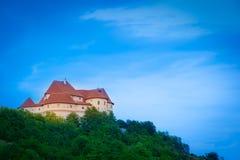Oud middeleeuws kasteel. Veliki Tabor, Kroatië Royalty-vrije Stock Foto's
