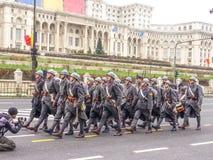 Oud militair Roemeens leger van Militair Museum Stock Afbeeldingen
