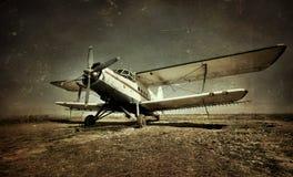 Oud militair vliegtuig Royalty-vrije Stock Fotografie