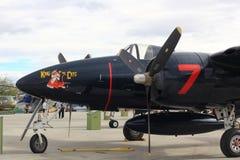 Oud militair vliegtuig Stock Afbeelding