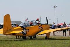 Oud militair vliegtuig royalty-vrije stock foto