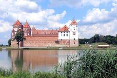 Oud Mir Castle Complex in Wit-Rusland Stock Fotografie